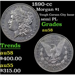 1890-cc Morgan Dollar $1 Grades Choice AU/BU Slider