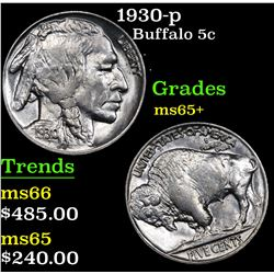 1930-p Buffalo Nickel 5c Grades GEM+ Unc