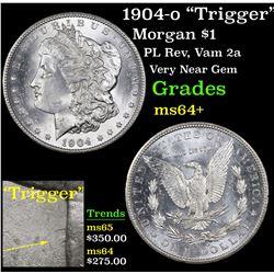 "1904-o ""Trigger"" Morgan Dollar $1 Grades Choice+ Unc"