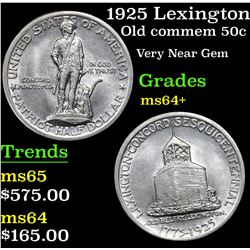 1925 Lexington Old Commem Half Dollar 50c Grades Choice+ Unc