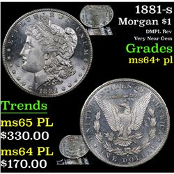 1881-s Morgan Dollar $1 Grades Choice Unc+ PL