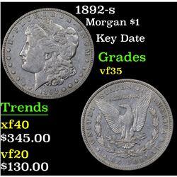 1892-s Morgan Dollar $1 Grades vf++