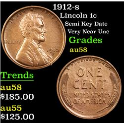 1912-s Lincoln Cent 1c Grades Choice AU/BU Slider