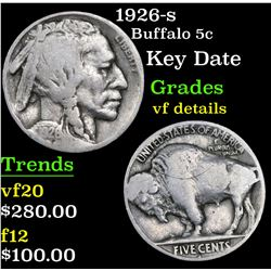 1926-s Buffalo Nickel 5c Grades vf details