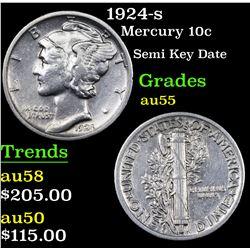 1924-s Mercury Dime 10c Grades Choice AU