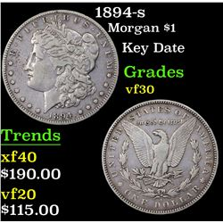 1894-s Morgan Dollar $1 Grades vf++