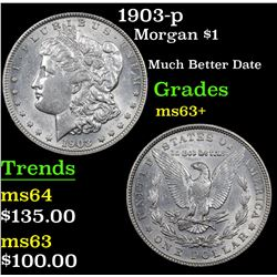 1903-p Morgan Dollar $1 Grades Select+ Unc