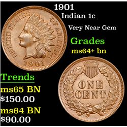 1901 Indian Cent 1c Grades Choice+ Unc BN