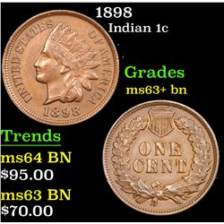 1898 Indian Cent 1c Grades Select+ Unc BN