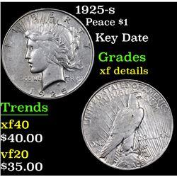 1925-s Peace Dollar $1 Grades xf details