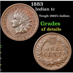 1883 Indian Cent 1c Grades xf details