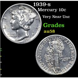 1939-s Mercury Dime 10c Grades Choice AU/BU Slider