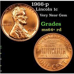 1966-p Lincoln Cent 1c Grades Choice+ Unc RD