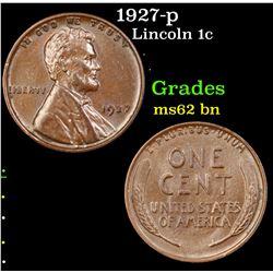 1927-p Lincoln Cent 1c Grades Select Unc BN