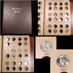 Starter Washington Quarter book 1976-1998 11 coins