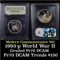 1991-1995-P WWII Modern Commem Half Dollar 50c Grades GEM++ Proof Deep Cameo