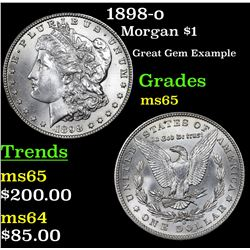 1898-o Morgan Dollar $1 Grades GEM Unc
