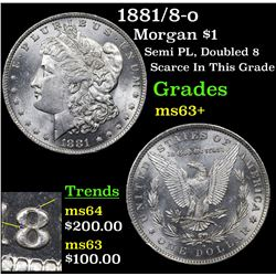 1881/8-o Morgan Dollar $1 Grades Select+ Unc