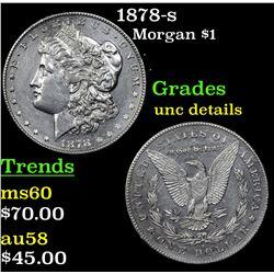 1878-s Morgan Dollar $1 Grades Unc Details