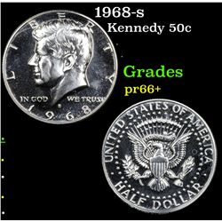 1968-s Kennedy Half Dollar 50c Grades GEM++ Proof