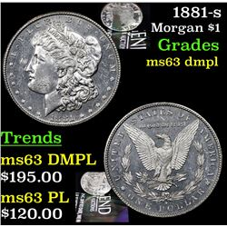 1881-s Morgan Dollar $1 Grades Select Unc DMPL