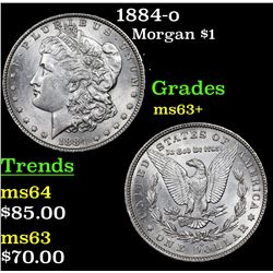1884-o Morgan Dollar $1 Grades Select+ Unc