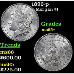 1896-p Morgan Dollar $1 Grades GEM+ Unc