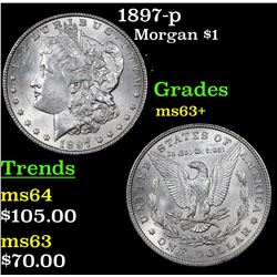 1897-p Morgan Dollar $1 Grades Select+ Unc