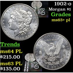 1902-o Morgan Dollar $1 Grades Select Unc+ PL
