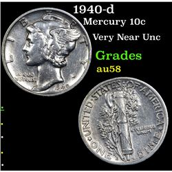 1940-d Mercury Dime 10c Grades Choice AU/BU Slider