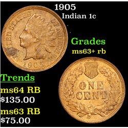 1905 Indian Cent 1c Grades Select+ Unc RB