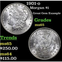 1901-o Morgan Dollar $1 Grades GEM Unc