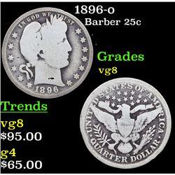 1896-o Barber Quarter 25c Grades vg, very good