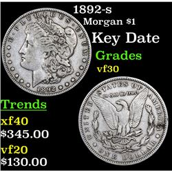 1892-s Morgan Dollar $1 Grades vf++