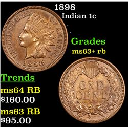 1898 Indian Cent 1c Grades Select+ Unc RB