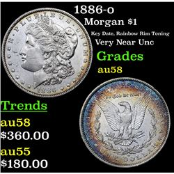1886-o Morgan Dollar $1 Grades Choice AU/BU Slider
