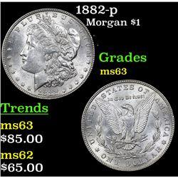 1882-p Morgan Dollar $1 Grades Select Unc