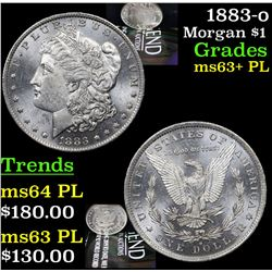 1883-o Morgan Dollar $1 Grades Select Unc+ PL