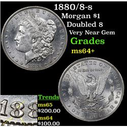 1880/8-s Morgan Dollar $1 Grades Choice+ Unc