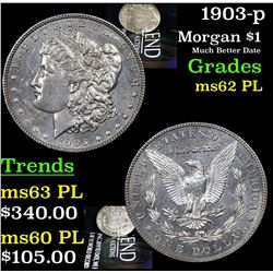 1903-p Morgan Dollar $1 Grades Select Unc PL