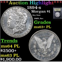 ***Auction Highlight*** 1894-s Morgan Dollar $1 Graded Select Unc+ PL By USCG (fc)