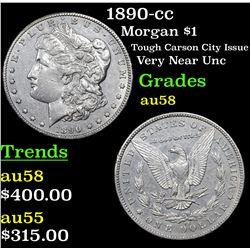1890-cc Morgan Dollar $1 Grades Choice AU/BU Slider