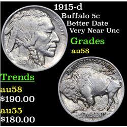 1915-d Buffalo Nickel 5c Grades Choice AU/BU Slider