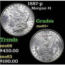 1887-p Morgan Dollar $1 Grades GEM+ Unc