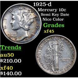 1925-d Mercury Dime 10c Grades xf+