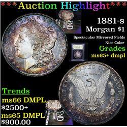 ***Auction Highlight*** 1881-s Morgan Dollar $1 Graded GEM+ DMPL By USCG (fc)