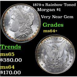 1879-s Rainbow Toned Morgan Dollar $1 Grades Choice+ Unc