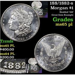 188/1882-s Morgan Dollar $1 Grades GEM Unc PL