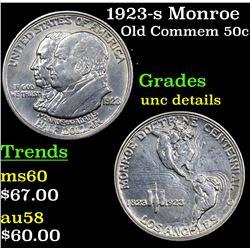 1923-s Monroe Old Commem Half Dollar 50c Grades Unc Details