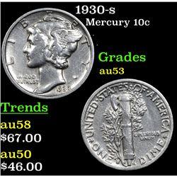 1930-s Mercury Dime 10c Grades Select AU